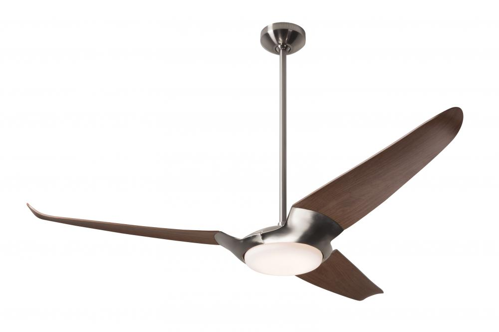 "Ceiling Fan Warehouse in Hallandale Beach, Florida, United States, Modern Fan Co. IC3-BN-56-MG-570-CC, IC/Air (3 Blade) Fan; Bright Nickel Finish; 56"" Mahogany Blades; 20W LED; Wall/Remote Combo Cont, IC/Air3"