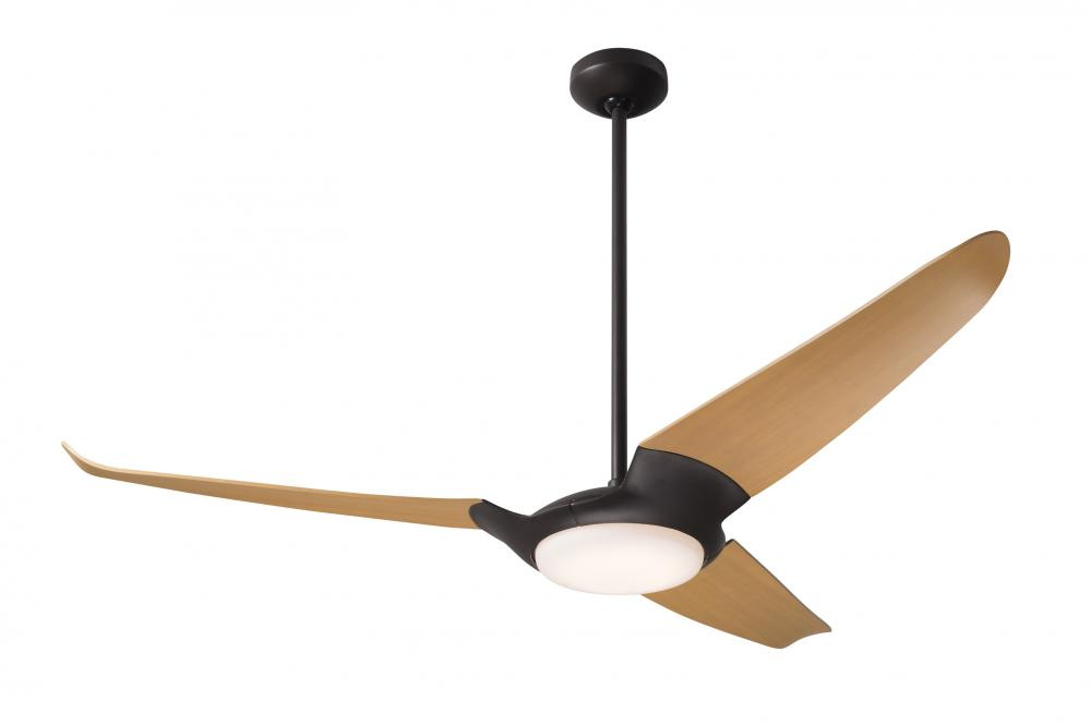 "Ceiling Fan Warehouse in Hallandale Beach, Florida, United States, Modern Fan Co. IC3-DB-56-MP-570-CC, IC/Air (3 Blade) Fan; Dark Bronze Finish; 56"" Maple Blades; 20W LED; Wall/Remote Combo Control, IC/Air3"