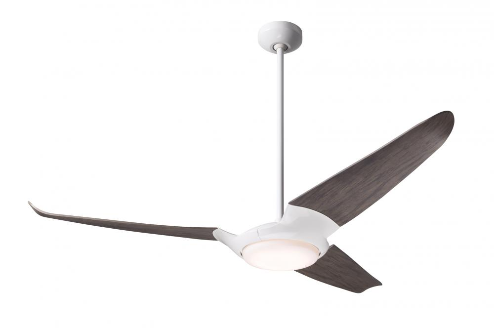 "IC/Air (3 Blade) Fan; Gloss White Finish; 56"" Graywash Blades; 20W LED; Wall/Remote Combo Contro"