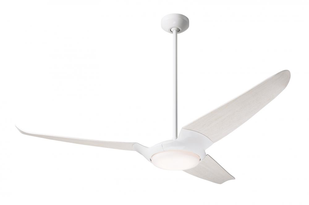 "IC/Air (3 Blade) Fan; Gloss White Finish; 56"" Whitewash Blades; 20W LED; Wall/Remote Combo Contr"