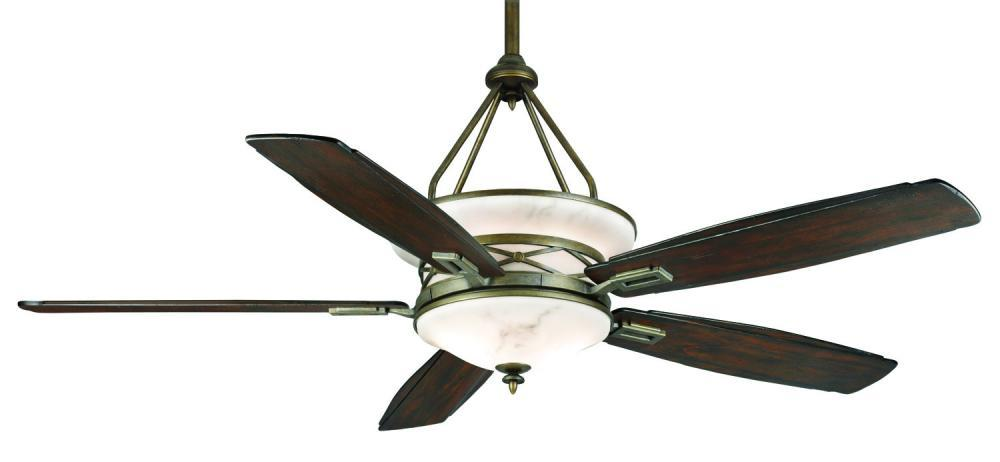 Ceiling Fan Warehouse in Hallandale Beach, Florida, United States, Casablanca AEP 64395, Eight Light Aged Bronze Glass: Faux Alabaster Ceiling Fan, Atria