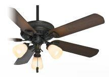 Casablanca AEP 54007 - Three Light Basque Black Glass: Champagne Scavo Ceiling Fan
