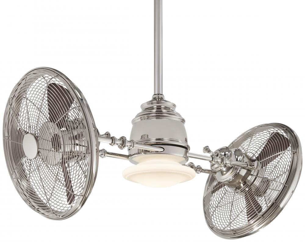 "Ceiling Fan Warehouse in Hallandale Beach, Florida, United States, Minka-Aire F802-PN, Vintage Gyro™ 42"" - Polished Nickel,"