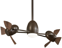 "Minka-Aire F304L-ORB/MM - Cage Free Gyro� 42"" - Oil Rubbed Bronze with Medium Maple Blades"