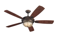 "Monte Carlo 5ED56RBD - 56"" Drawing Room Outdoor Fan - Roman Bronze"