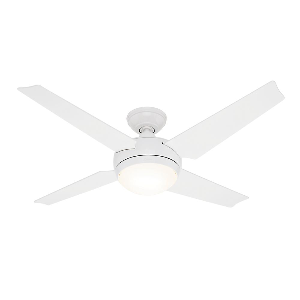 "Ceiling Fan Warehouse in Hallandale Beach, Florida, United States, Hunter Fan Co. 59073, 52"" Ceiling Fan with Light and Remote, Sonic"